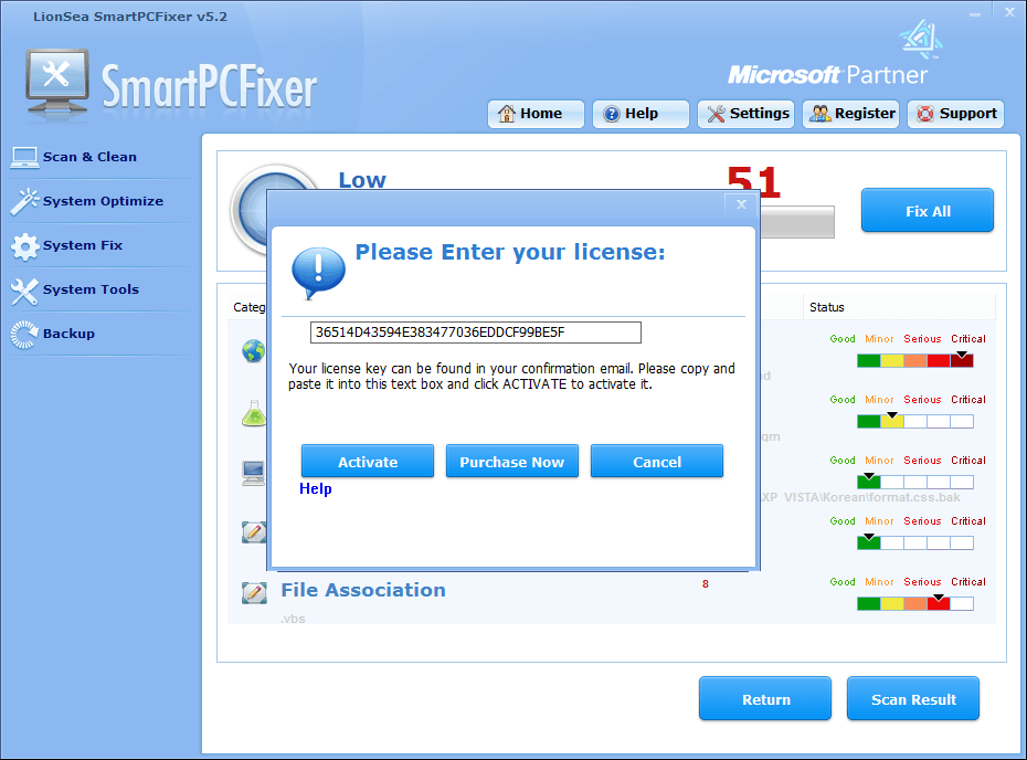 SmartPCFixer License key